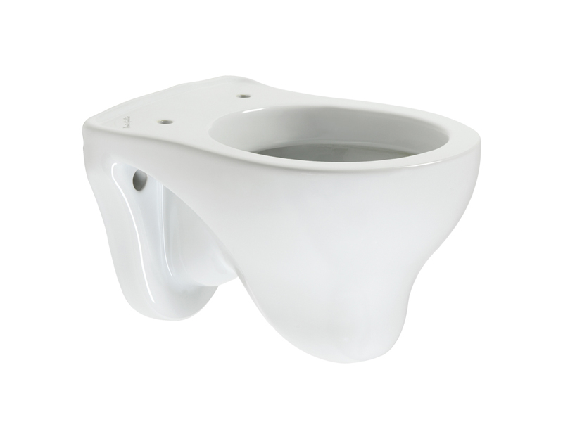 Hanging WC-bowl for children use in white Vitreous-China, showcases