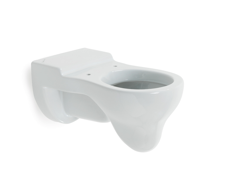 Hanging WC-bowl for children use, Millepiedi, showcases