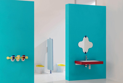 Washbasin, bathroom fixtures and accessories for children