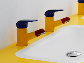 Ponte Giulio's taps and mixers for children bathroom