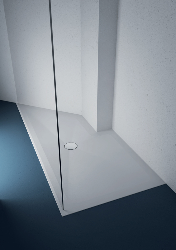 Shower tray, Midioplan, line Materia, showcases