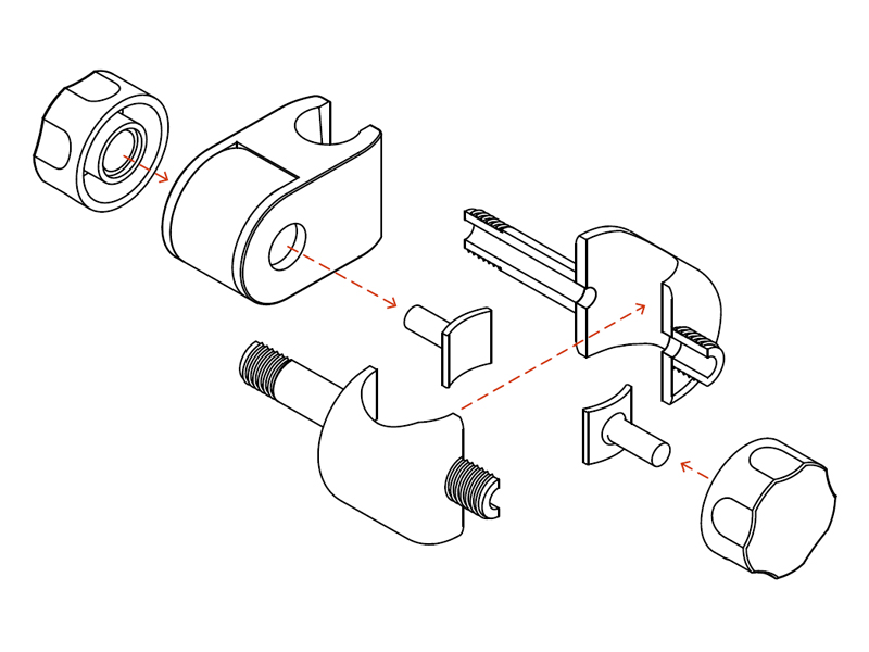 Insights: how to assemble the shower head holder,
