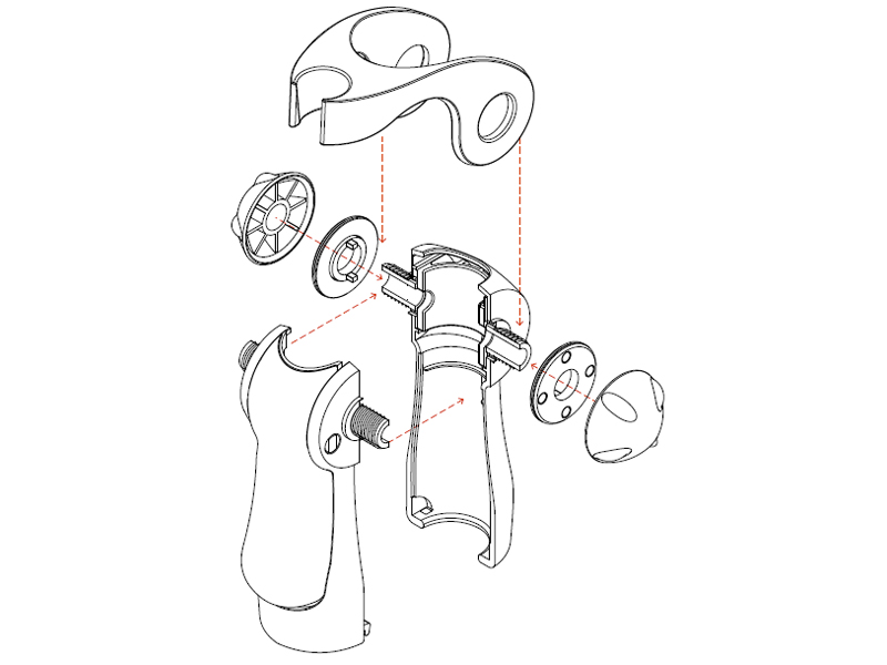 Insights: how to assemble the ergonomic shower holder