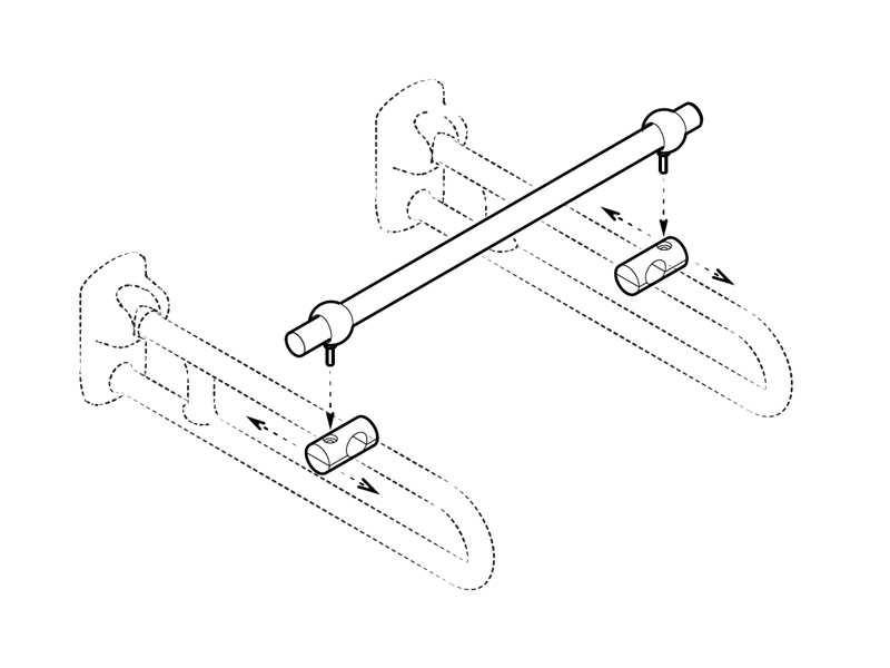 how to assemble removable containment rod for disabled grab bars