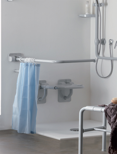Insights Disabled Bath Shower Curtain Rails With L Shaped