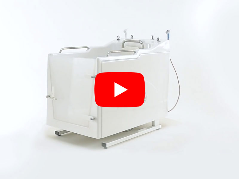 Video of the assisted bathing with Integrated controls