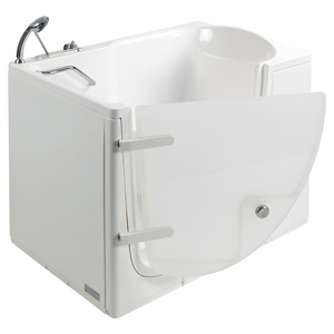 The walk-in bathtub with external door, model 651, showcases