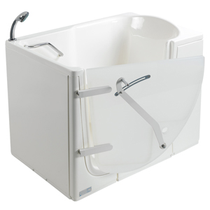 The walk-in bathtub with external door, model 652, showcases