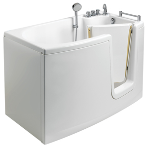 The walk-in bathtub with internal door, model 653, showcases