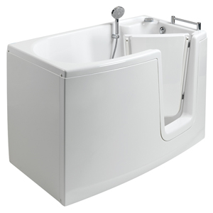 The walk-in bathtub with internal door, model 654, showcases