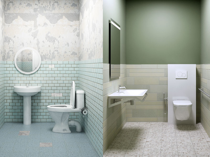 Bathroom sanitary ware for accommodation facilities