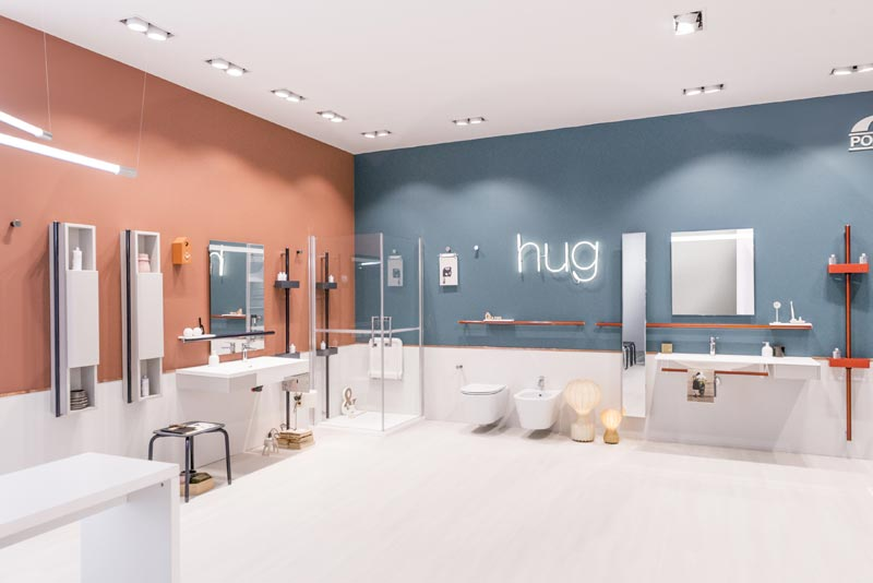 hug, the new furnishing system for the bathroom Ponte Giulio