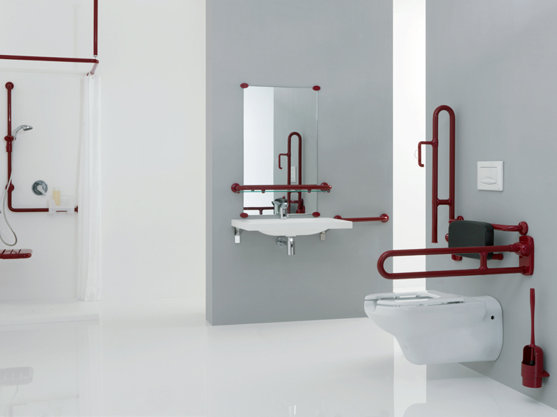 Accessories for a safe bathroom and bathroom designs
