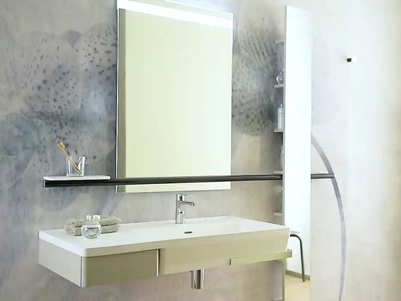 Inclusive and functional hotel bathroom
