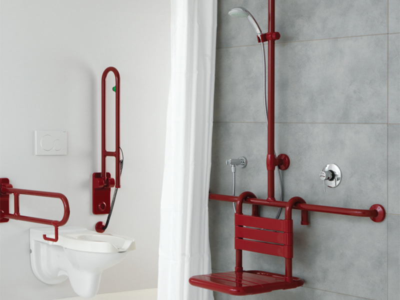Solution for a shower system with removable seat