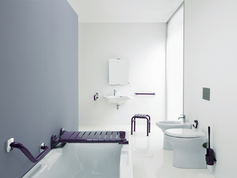 Solution for bathroom environment free of architectural barriers