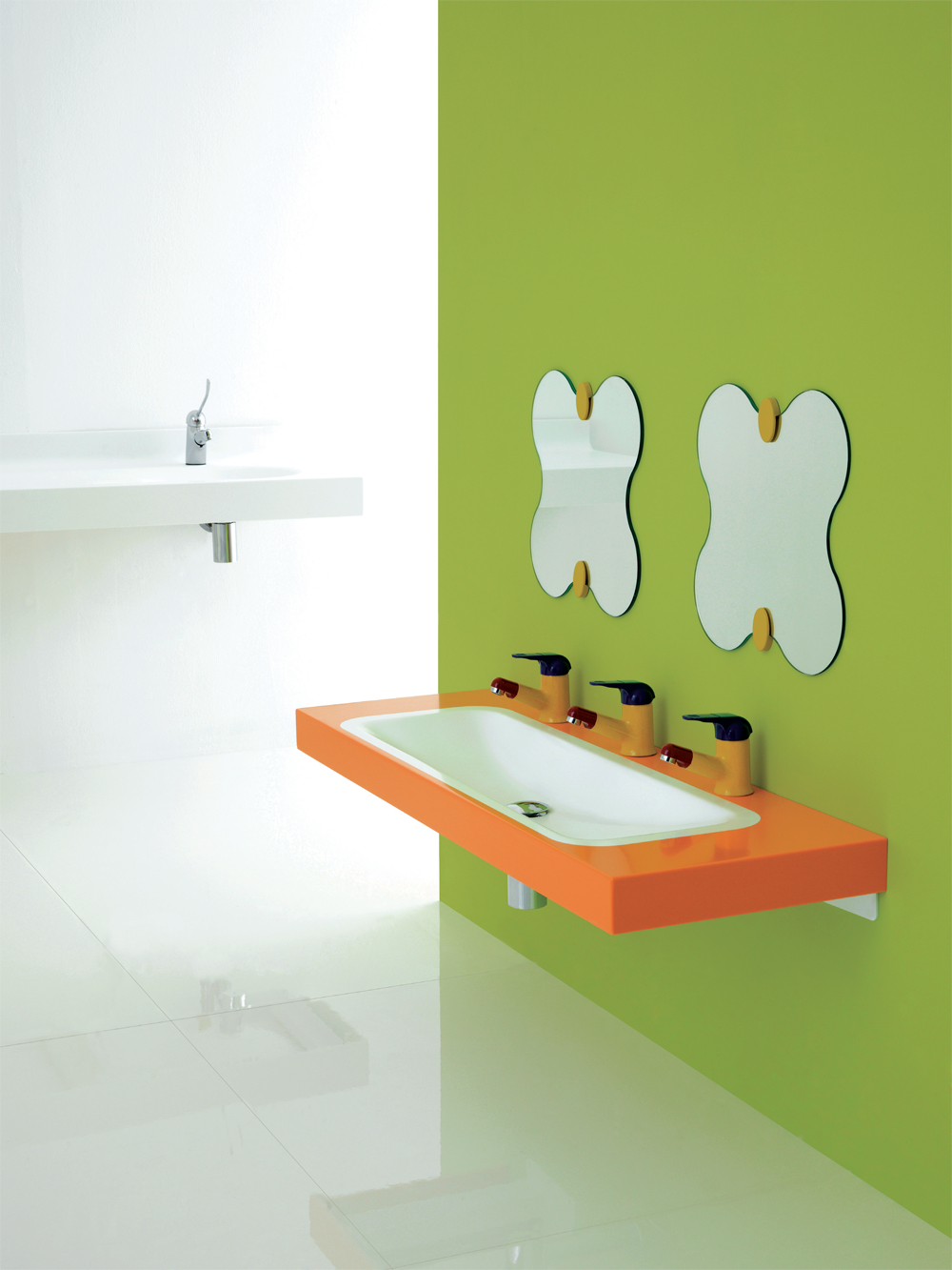 Baby changing unit top in acrylic stone - IN003
