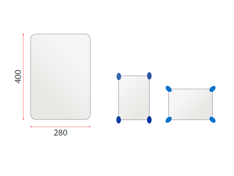 Shaped Mirror - IN004