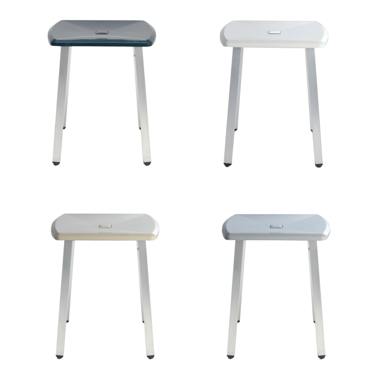 Stool with aluminum legs for the washbasin area - BE013