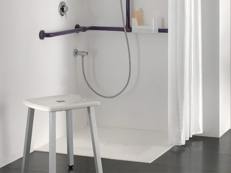 Stool in the shower environment