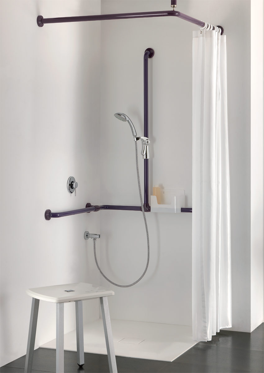 Bathroom seats for a safe shower area