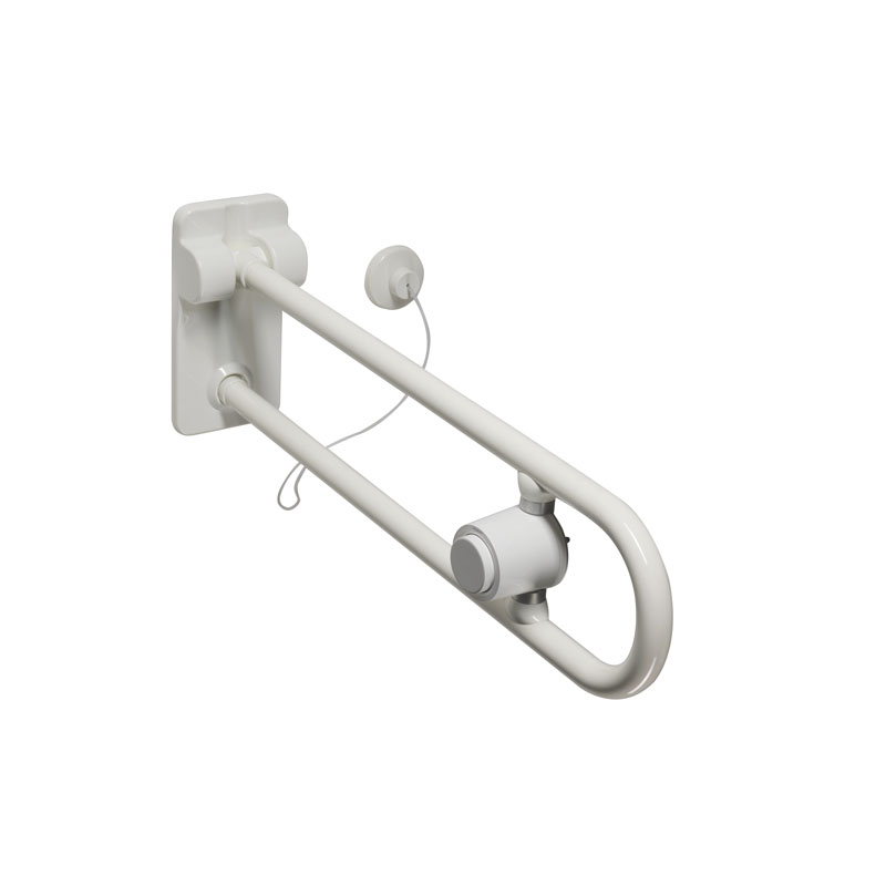 Safety folding grab bar with pneumatic system