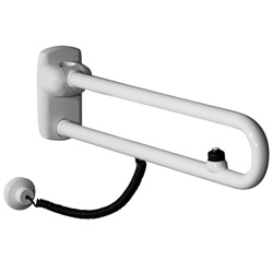Safety folding side swivel grab rails with electric