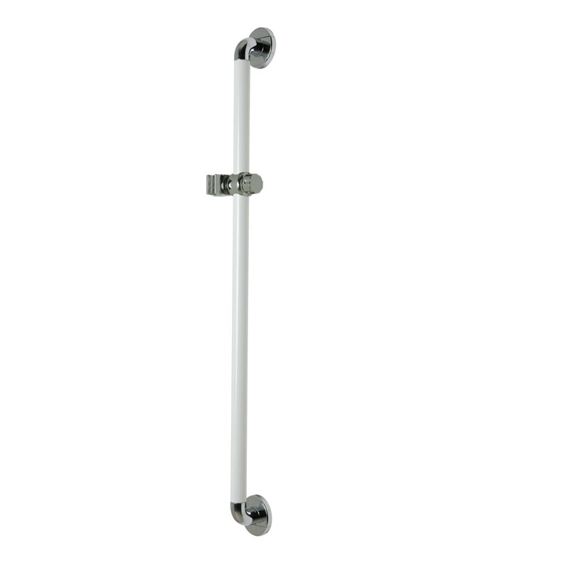 Vertical grab slider rail with showerhead holder