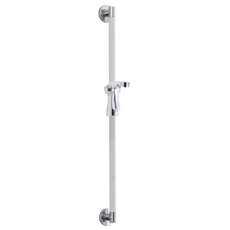 Vertical grab rail with shower head holder - G18UOS01