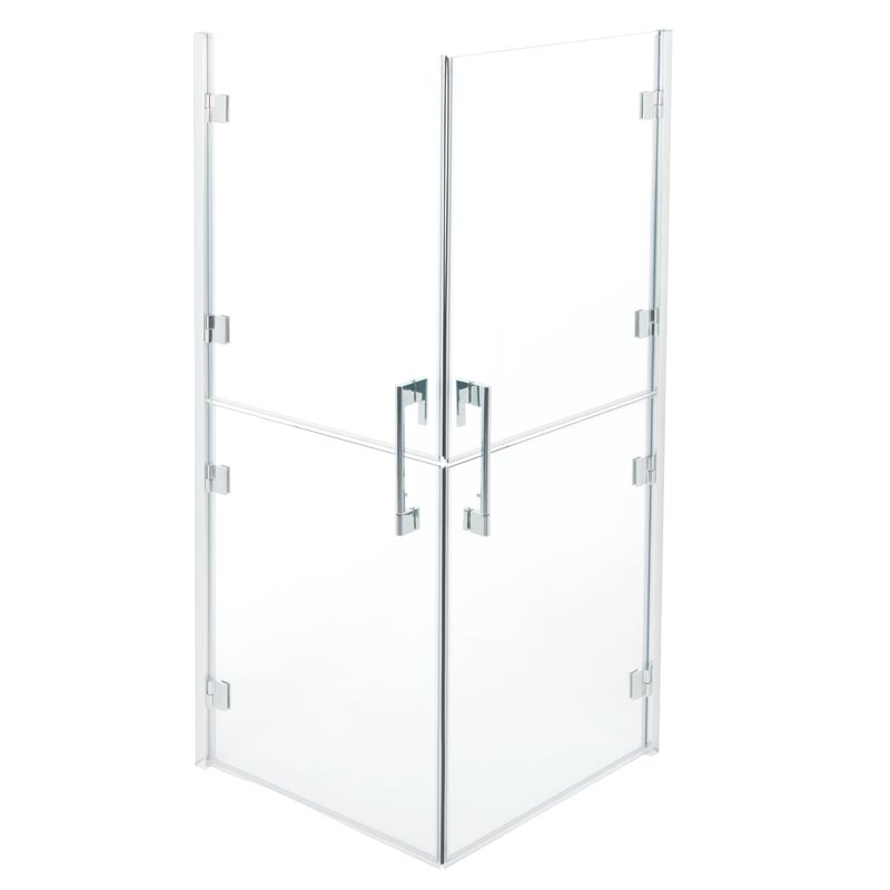 Split doors shower enclosure 90x90 cm. - C53FBS21