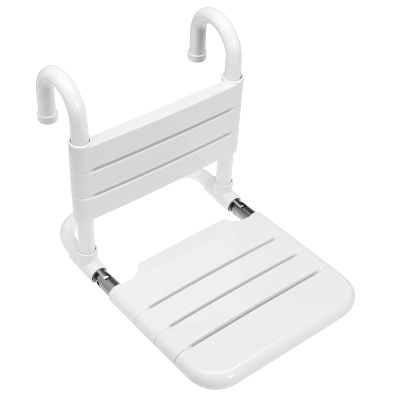 Removable hanging and folding shower seat