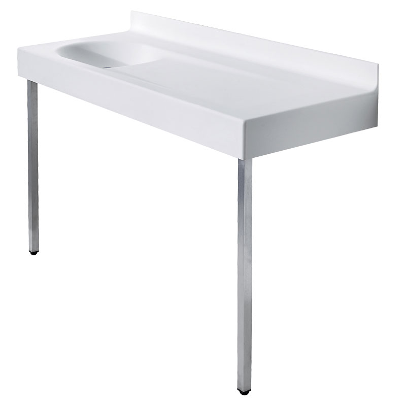Wash basin top/baby changing unit with supporting legs to the floor - B46EDL02