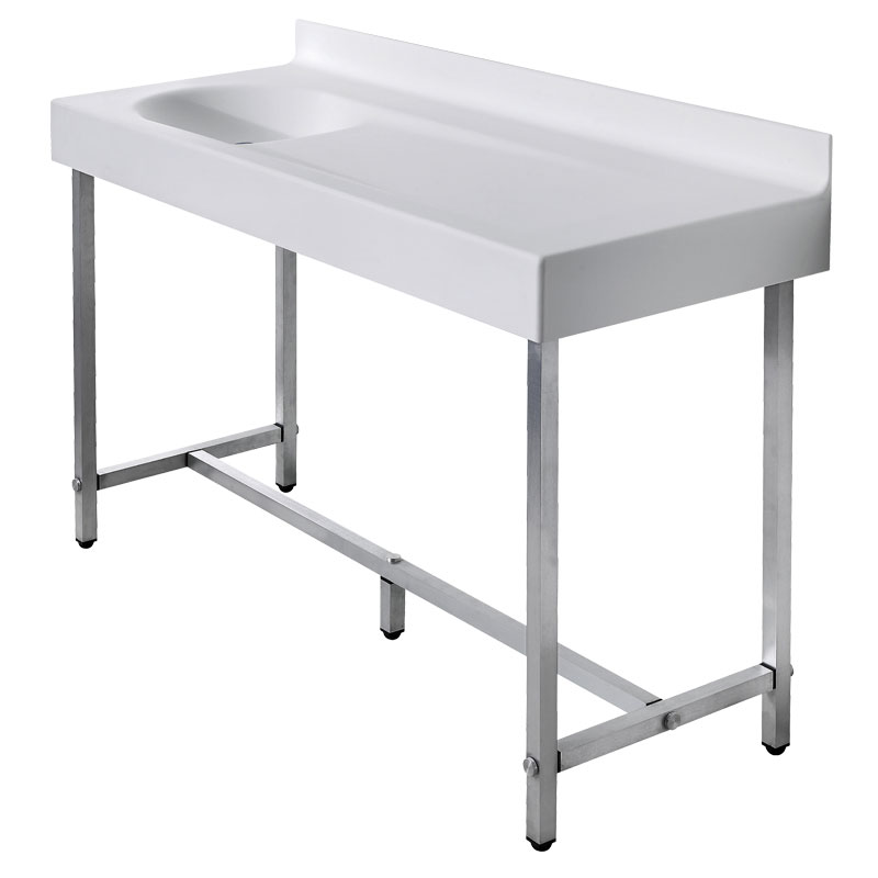 Wash basin top/baby changing unit on freestanding structure - B46EDL03