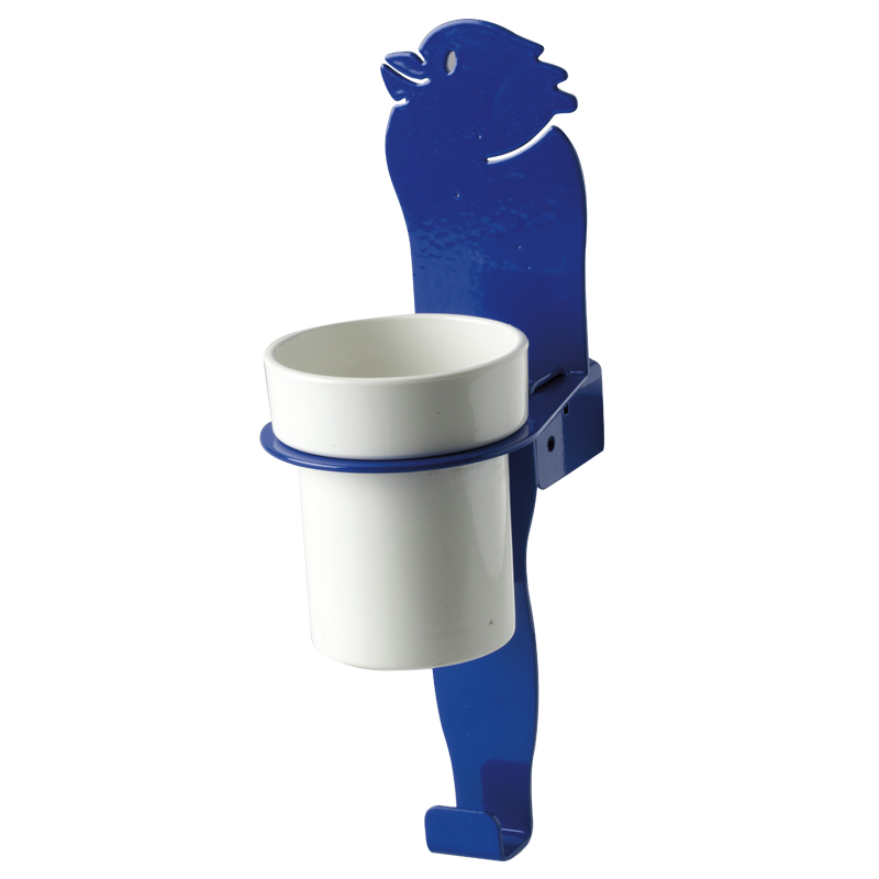 "Cup holder module towel hook, ""bird"" shape"