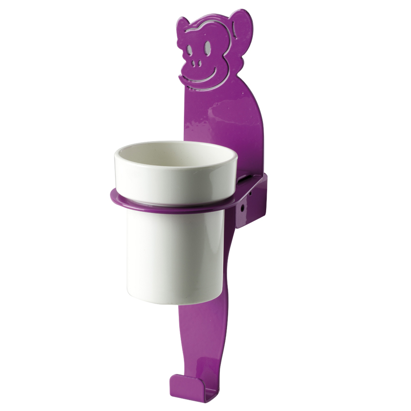"Cup holder module towel hook, ""monkey"" shape"