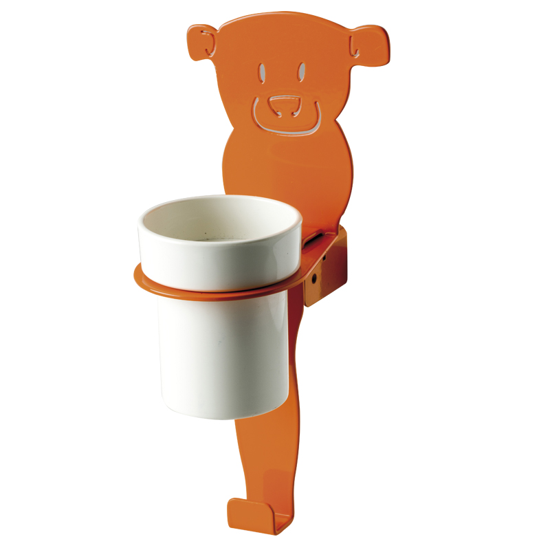 "Cup holder module towel hook, ""bear"" shape"