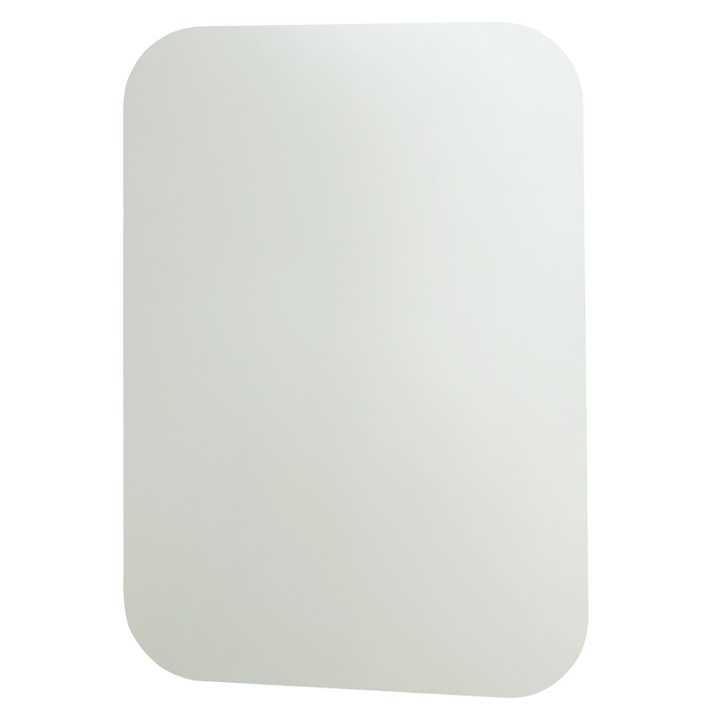 Frameless rectangular shaped mirror in safety glass - F44ATS01