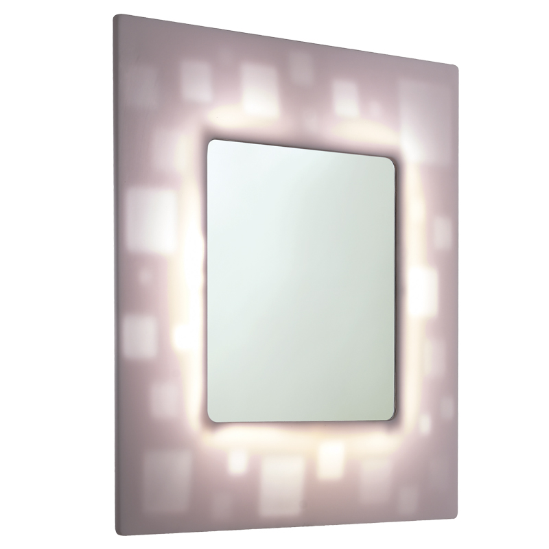 Draw Mirror with backlit translucent frame F47ATM10