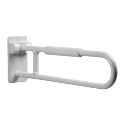 Folding and rotating grab bar, equipped with arm rest