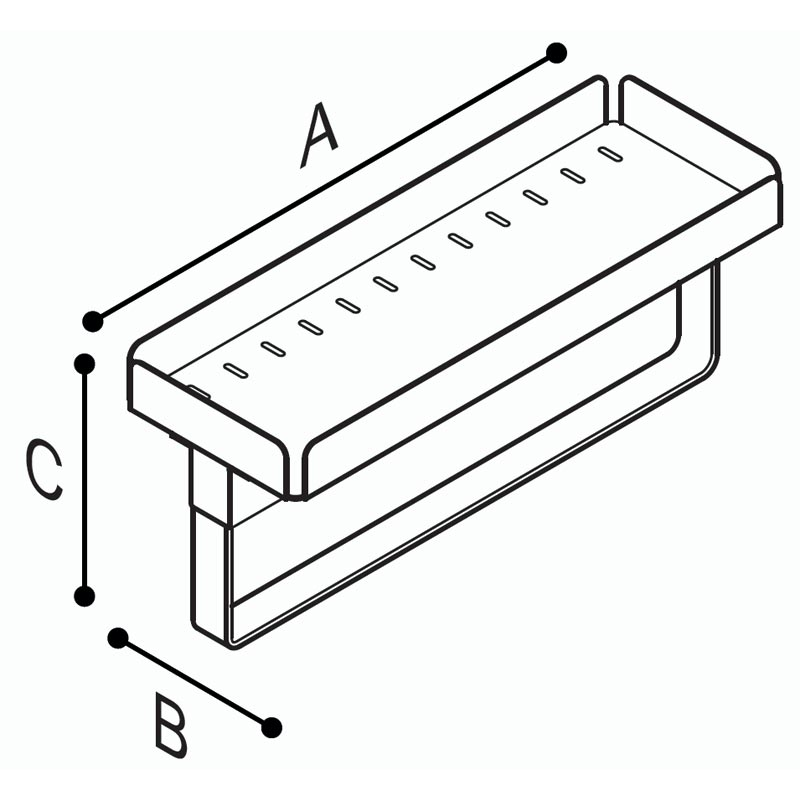 Draw Multi-functional tray Technical Drawing F18ANS03