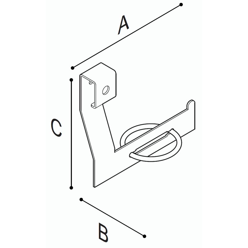 Draw Toilet roll holder Technical Drawing F18AGL01