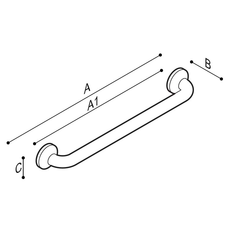 Draw Straight safety grab rails Technical Drawing G27JAS30