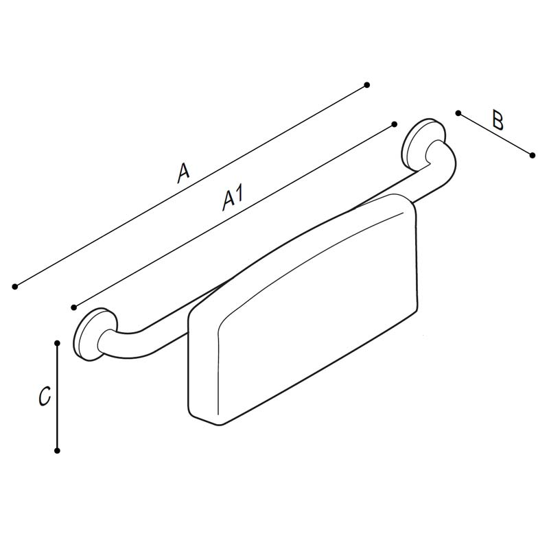 Draw Back rest Technical Drawing G27JDS29