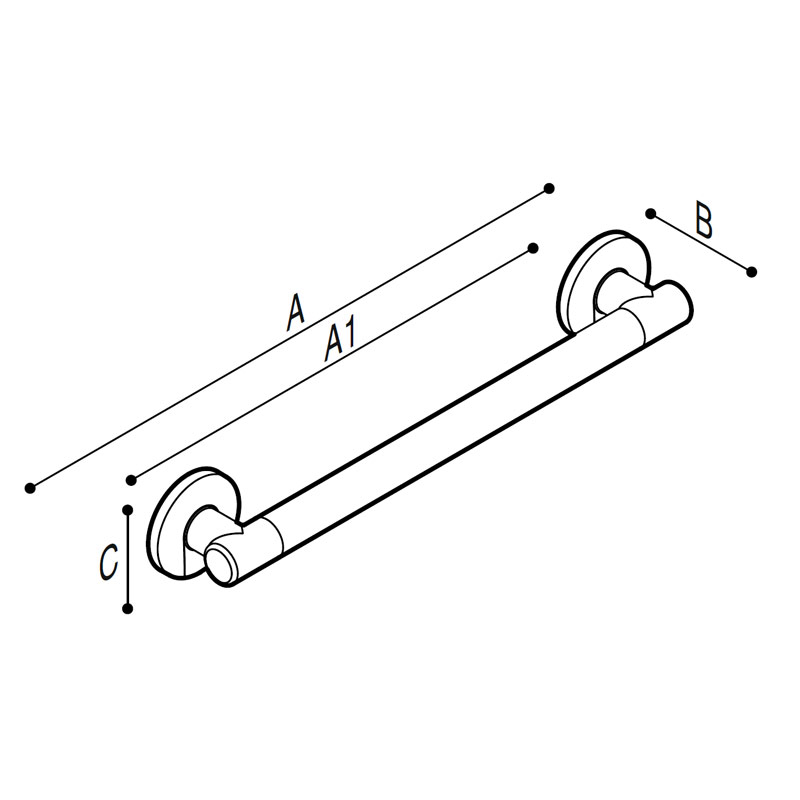 Draw Straight safety grab rail Technical Drawing G18UAS11