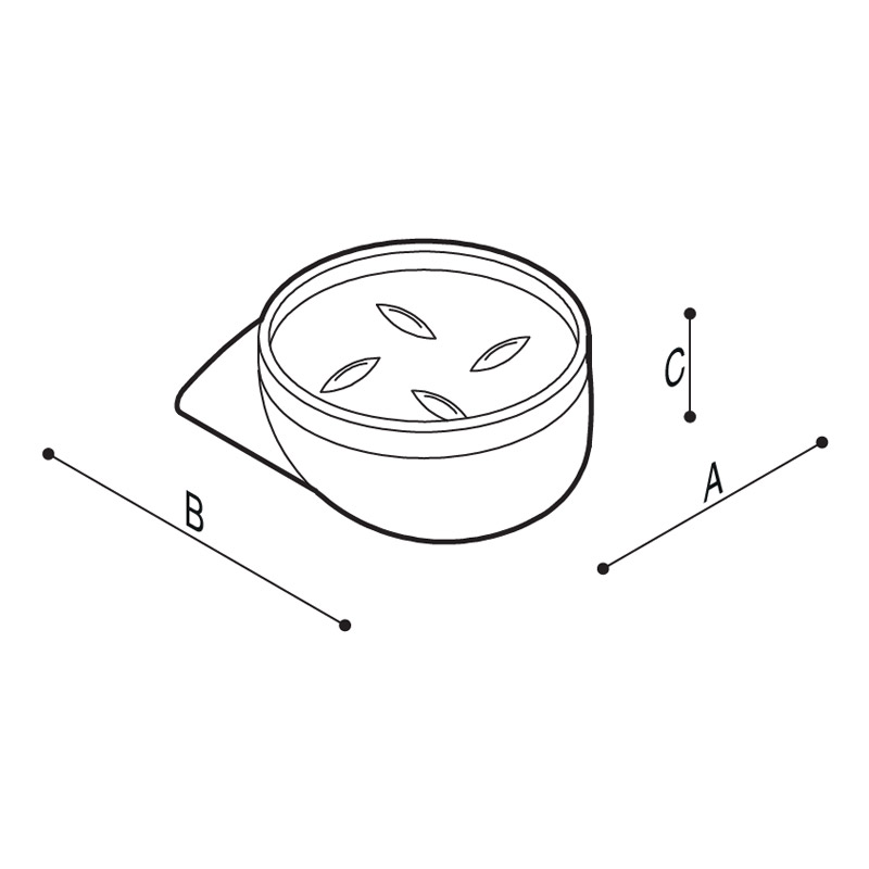 Draw Soap holder Technical Drawing F17AJN01