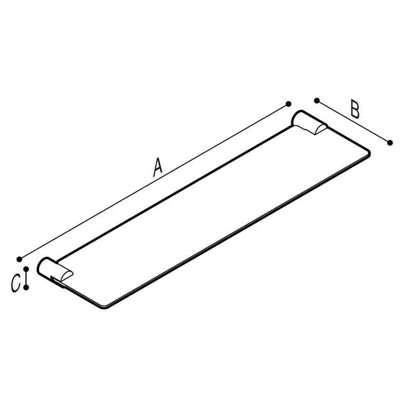 Draw Glass shelf Technical Drawing F41ANS05