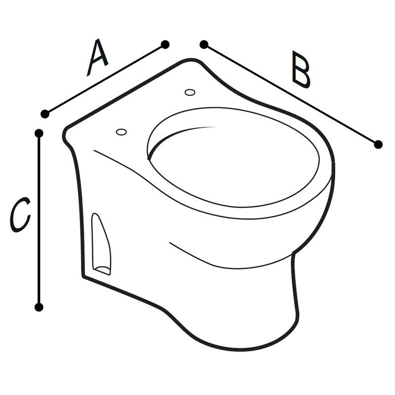 Draw Floor standing WC-bowl for children use Technical Drawing B44CBD07