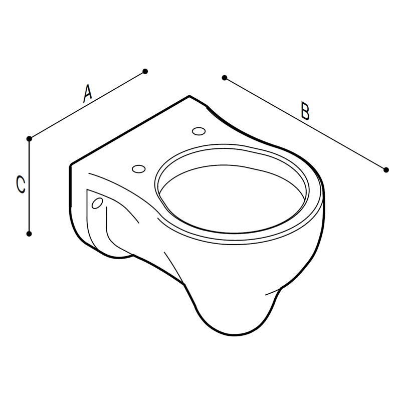 Draw Hanging WC-bowl for children use Technical Drawing B44CAS01