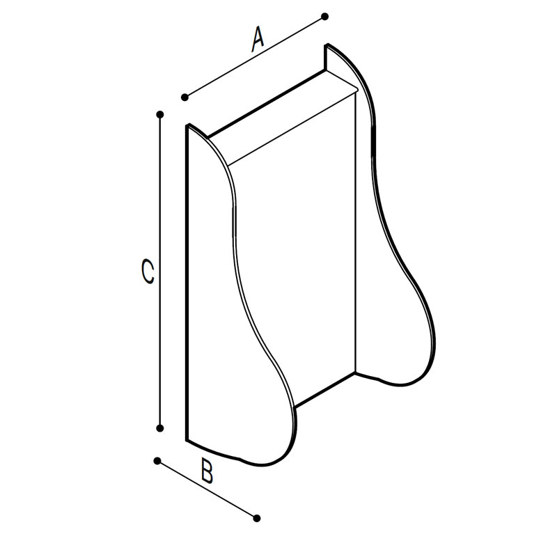 Draw Wall hung urinal supporting module Technical Drawing B41EBD02