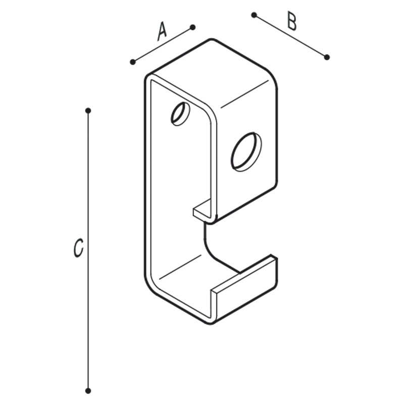 Draw Towel and robe hook Technical Drawing F18AKS01